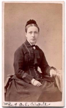 1878 Anna Bausman Crispell Photo, wife Rev. Cornelius Eltinge Crispell