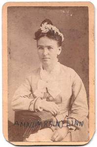 1870's Ann Martin Linn CDV Photo, Cedar Rapids, Linn County, Iowa