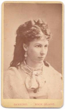 1870's Mrs. Mickel signed Vintage CDV Photo, Rock Island, Illinois
