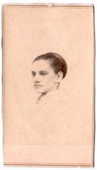 1860's Mary Fusher Bernier CDV Photo, Springfield, Hampden County MA