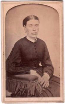 1860's Mary Thornhill Photo, Norwich, Connecticut, Born in Scotland