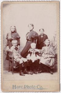 1890's Al Lofgren Family Cabinet Card Photo by Hare Photo Co.