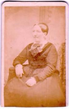 1870 Mary Eliza Jacobs (Wright) CDV, Yorktown, Westchester County NY - Ancestorville