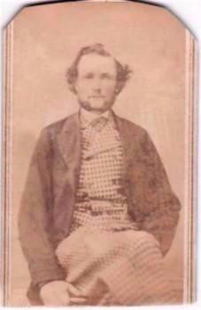 1860's Judson Pickett White CDV Photo, Danbury, Fairfield County, Conn
