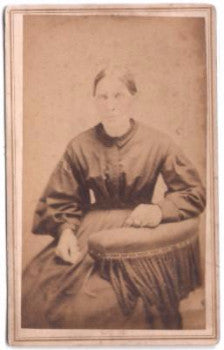 1860's Anna Brader CDV Photo Allentown, Allegheny, Lehigh County