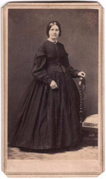 1860's Rebecca Hoffman Powelson Signed CDV Photo, New Jersey to Iowa