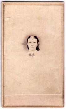 1860's Mertie Austin Civil War era CDV Photo, Chicago, Cook County, IL