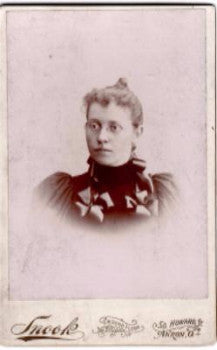 1890's Caroline Arnold Photo, Akron Ohio by Photographer George Snook