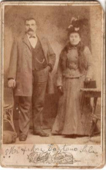 1880's Gaetano Sala & Laura Brath Sala Cabinet Card Photo, Boston Mass