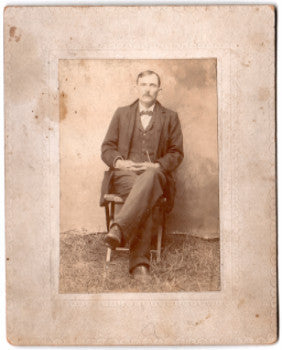 1890's Charles Gaston signed Photo, found in Rowley, Essex County MA