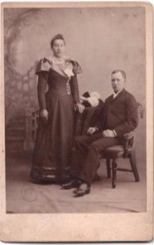 1880 Mr. & Mrs. Wade Cabinet Photo, Michiana, Berrien County, Michigan