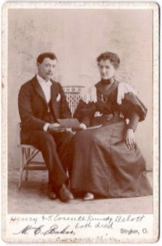 1890's Henry & Florence Kennedy Boillot Photo, Corunna, Shiawasee Mich