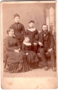 1890's Sophia Bush & Andrew Bixler Cabinet Photo, Navarre, Stark, Ohio
