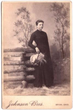 1880's Ella Richards Cabinet Card Photo, Bryan, Williams County, Ohio