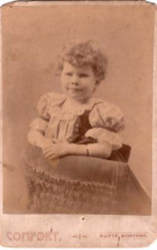 "1890's ""Flossie"" Florence Sherlock Cabinet Card Photo, Butte, Montana"