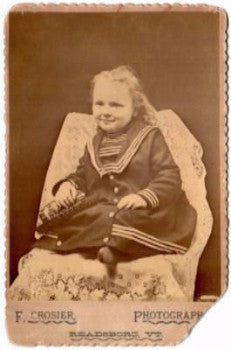1880's Selah Holbrook's Daughter Laura Holbrook ID'd Cabinet Photo VT