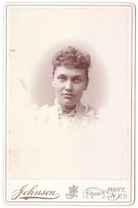 1893 Clara L. Dunster Cabinet Photo, Crown Point, Essex County NY