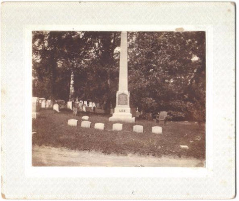 1890's Charles Lee & Janet Black Lee Family Gravestone Photo, Troy NY