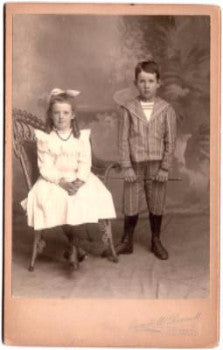 1910 Margaret & Gilbert Newton Wiggins Photo Fitchburg, Worcester Mass