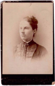 1880's Margaret Griffin Kiely Cabinet Photo, Bridgeport, Fairfield, CT