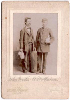 1890's John Martin & A. Wollerton Photo in Coatesville, Pennsylvania