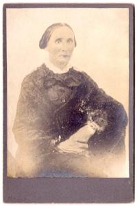 1840's Louise Cole Williams Cabinet Photo from earlier Daguerreotype
