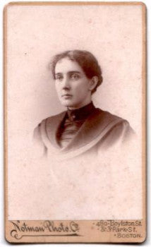1895 Mary Nesmith Parsons ID'd CDV, Teacher Pinkerton Academy Derry NH