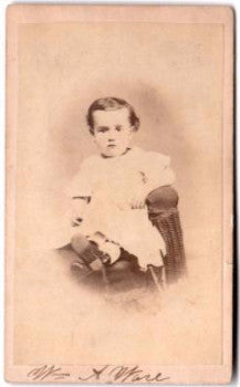 1860's William Alonzo Ware CDV Photo, Reading PA to Denver, Colorado