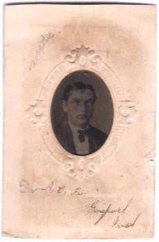 1870's A.C. or Dr. Alexander Campbell Farr Tintype Photo, Indiana