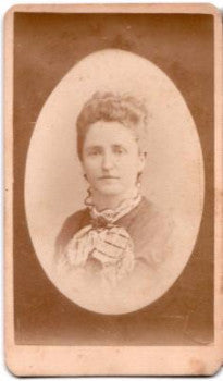 1875 Rosa Ahrendt CDV Photo, Baltimore, Maryland, wife of Carl Ahrendt