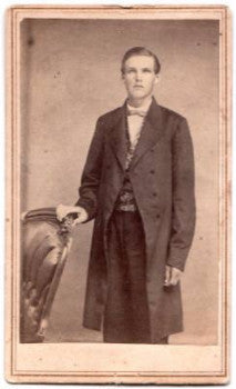 1860's Henry C. Beckwith CDV Photo, 4th NY, Hornellsville, Canisteo
