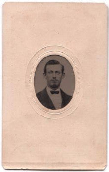 1860's Wallace E. Lints ID'd Tintype Photo, Utica Rome NY, Oneida County