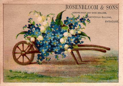 1880's Solomon Rosenbloom Shoe Trade Card, Syracuse Onondaga County NY