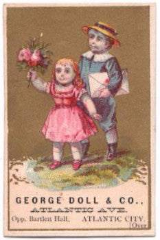 1890's George Doll & Co. Advertising Trade Card, Atlantic City NJ, PA