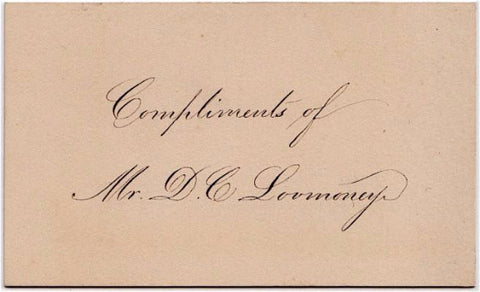 c. 1900 Business Card of David C. Lovmoney (Lovemoney) Springfield, MA