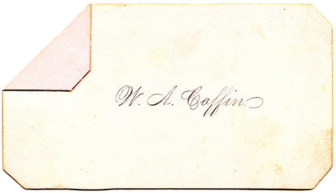 1880's Original Victorian Calling Card of W.A. Coffin: Genealogy