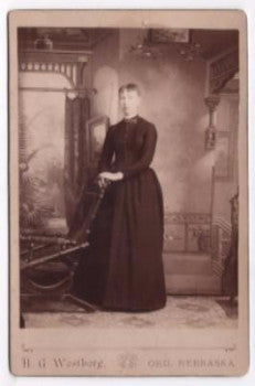 1880's Amelia Wisdom Cabinet Photo, Ord, Valley County, Nebraska