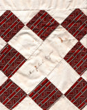1860's Mrs. John C. Rogers, Portland Maine Signed Quilt Square