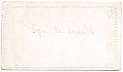 1850's Lydia C. Maxfield LeGrow Victorian Calling Card, Windham, Maine