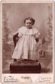 1880's Victoria Margaret Smith Cabinet Card Photo, Brooklyn NY