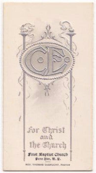 1906 Rev. Thomas DeGruchy, Penn Yan NY Baptist Church Program