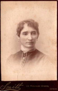 1880's Mary Stack Cabinet Card Photo, Detroit, Wayne County, Michigan