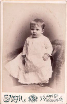Curley Genealogy: 1880's Ethel Curley Cabinet Card Photo, Lockport NY