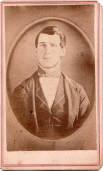 1864 Leander Turner CDV Photo of 1840's Daguerreotype, Vermont