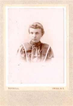 1880's Frances Waterman, Nichols, Tioga County NY Cabinet Card Photo