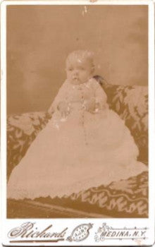 1880's Francis Greene Cabinet Card Photo, Medina, Orleans County NY