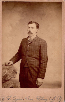1890's William Elethorp Cabinet Card Photo, Albany County NY