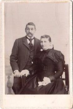 1898 Herman A. Hill & Emma J. Hill Cabinet Photo, Brookfield, NY