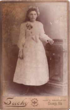 1880's Mary Reckrodt Palermo Cabinet Card Photo, Chicago Illinois