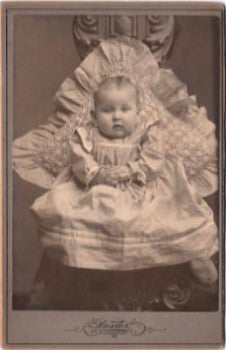 1880's Sarah Sadie Sadye Brown ID'd Cabinet Card Photo, Mckeesport PA